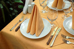 напольная таблица ресторана Стоковые Изображения RF