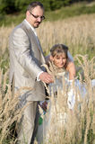 напольное венчание пейзажа Стоковые Изображения