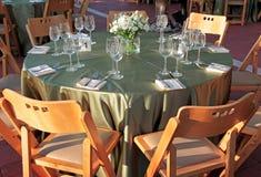 напольное венчание таблицы установки Стоковое Фото