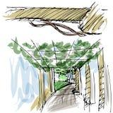 Напольное газебо парка Стоковое Изображение RF