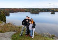 Напольное фото семьи Стоковая Фотография