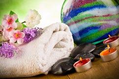Напольный массаж спы Стоковое фото RF