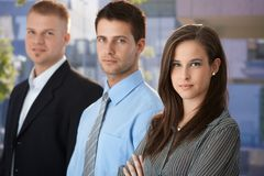 Напольный портрет предпринимателей стоковое фото rf