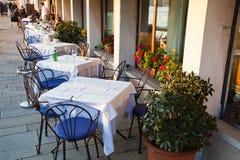 Напольный ресторан в Венеции Стоковое Изображение RF