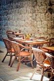 напольный ресторан Стоковые Фотографии RF