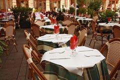 напольный ресторан Стоковые Фото
