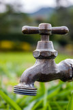 Напольный Faucet Стоковые Фотографии RF