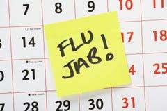 Напоминание удара гриппа Стоковые Фотографии RF