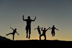 Напористая, оживлённая и здоровая группа Стоковые Фото