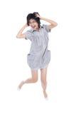 напористые скача играя детеныши подростка Стоковые Фото