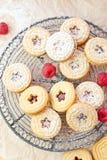 наполненные Варень печенья и поленики стоковые изображения