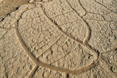 Наполненный Трудно песок пустыни стоковые фото