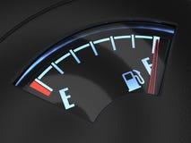 Наполните газом датчик при игла показывая полный танк Концепция топлива Стоковые Фото