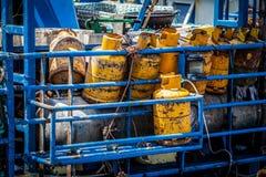 Наполните газом контейнер Стоковые Фотографии RF