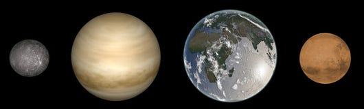 Планеты газа в солнечной системе Стоковая Фотография