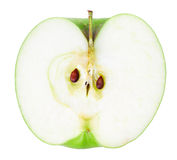 Наполовину зеленое яблоко стоковые фотографии rf