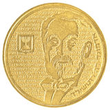 Наполовину израильская новая монетка Sheqel - вариант Эдмунда de Rothschild Стоковое Фото