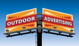 Напольная реклама Иллюстрация вектора