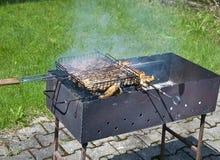 Напольное варя барбекю стоковое фото rf
