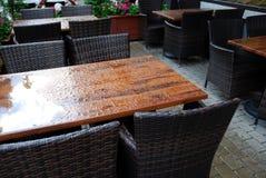 Напольное кафе Стоковая Фотография
