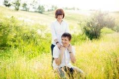 напольное пар счастливое Стоковые Фото