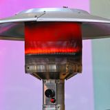 Напольный подогреватель газа Стоковые Фото