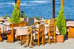 Напольный ресторан, Болгария Стоковые Изображения