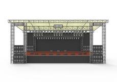 Напольный этап концерта Стоковая Фотография RF