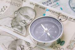 Направление Индии финансовое и экономики, новый превращаться Азии стоковая фотография