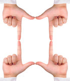 направлять создал 4 знака руки кадра Стоковые Изображения RF