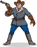 направлять шерифа пушки иллюстрация вектора