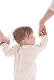направляющий выступ отца ребёнка его мать Стоковая Фотография