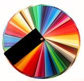 Направляющий выступ палитры цвета для полиграфической промышленности Стоковое Фото