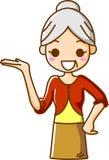 Направляющий выступ старших женщин Стоковое Изображение