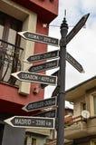 Направление к различным местам мира Стоковое Фото