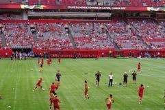Напрактикуйте перед игрой кубка мира 2015 ФИФА Women's Стоковая Фотография