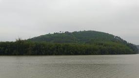 Напротив реки остров стоковые фотографии rf