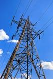 напряжение при передаче высокой башни Стоковое фото RF