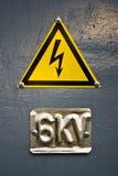 напряжение тока высокого знака опасности Стоковые Изображения RF