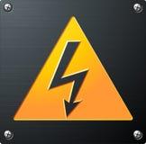 напряжение тока высокого знака Стоковая Фотография RF