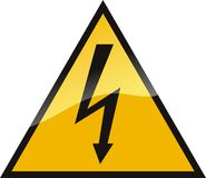 напряжение тока высокого знака Стоковые Изображения