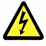 напряжение тока высокого знака стоковое изображение