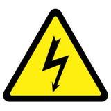 напряжение тока высокого знака Стоковая Фотография