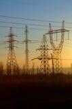 напряжение тока высокой башни Стоковое Изображение