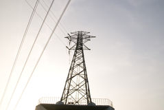 напряжение тока высокой башни Стоковая Фотография RF