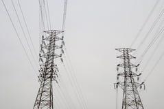 напряжение тока высокой башни Стоковое Изображение RF