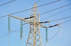 напряжение тока высокой башни Стоковое Фото