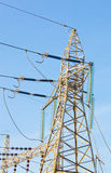 напряжение тока высокой башни Стоковые Изображения RF