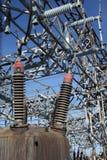 напряжение тока завода электричества высокое Стоковая Фотография RF
