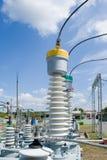напряжение тока подстанции оборудований высокое Стоковая Фотография